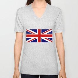 Union Jack Flag Unisex V-Neck