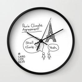 Paris Climate Agreement Wall Clock