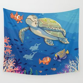 Under the Sea and Above the Coral Wall Tapestry