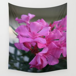 Pink Oleander Bunch Wall Tapestry