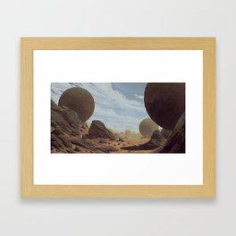 Rocky Desert Framed Art Print
