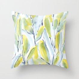 Growth Green Throw Pillow