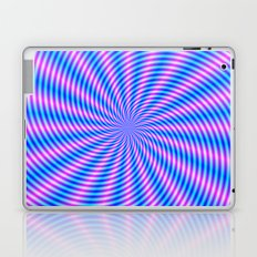 Pink and Blue Spiral Rays Laptop & iPad Skin