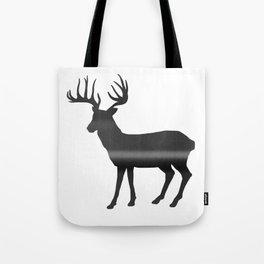 Deer print, Black & White Tote Bag