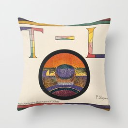 Application of Charles Henry's Chromatic Circle Throw Pillow