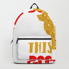 Funny Golden Retriever Glitter Design Backpack