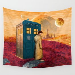 Time Traveller at Gallifrey Planet Wall Tapestry