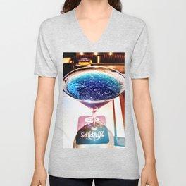 Deep Blue Reflection Unisex V-Neck