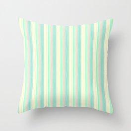 Turquoise Light Yellow Scrapbook Sherbert Throw Pillow