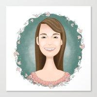 sarah paulson Canvas Prints featuring sarah by ErDavid