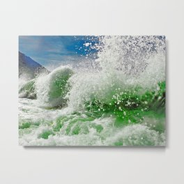 The Green Splash Metal Print