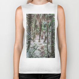 Palm Trees in the Green Swamp Biker Tank