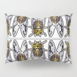 Amber Cicadas Pillow Sham