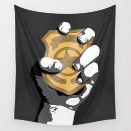 Police Wall Tapestry