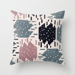 Starry shapes Throw Pillow