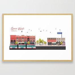 Queen West - Toronto Neighbourhood Framed Art Print