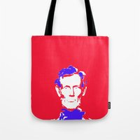 lincoln Tote Bags featuring Lincoln by Mylittleradical