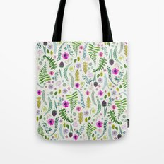 Ferns and Flowers Tote Bag