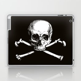 Skull and Crossbones | Jolly Roger | Pirate Flag | Black and White | Laptop & iPad Skin