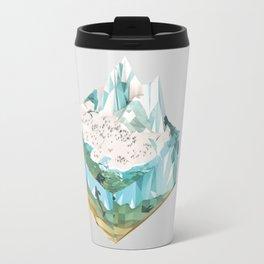 Low Poly Arctic Scenes - King Penguins (Isometric) Travel Mug