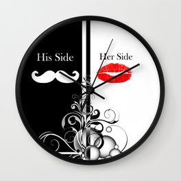 Hipster His Side Her Side Wall Clock