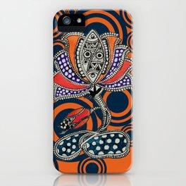 Madhubani - Lotus Fish 1 iPhone Case