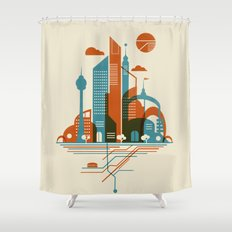 From the Subway to the Sky Shower Curtain