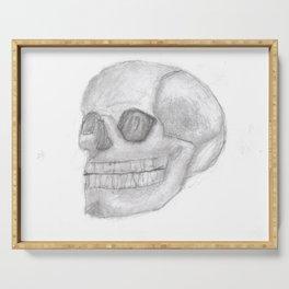 Death Skull (original work of 8yr old boy) Serving Tray