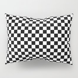 Classic Black and White Race Check Checkered Geometric Win Pillow Sham