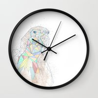 parrot Wall Clocks featuring parrot by Narek Gyulumyan