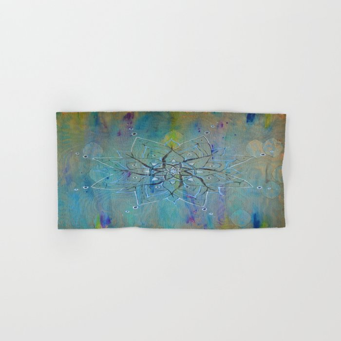Pyrographic Mandala Hand & Bath Towel