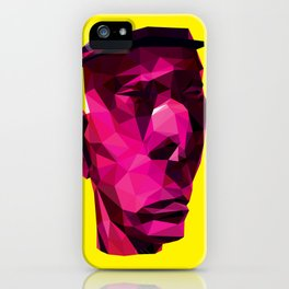 LOW POLY A JAZZ MAN iPhone Case
