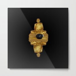 The Golden Monk Metal Print