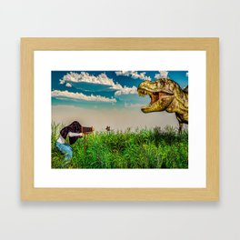 Wildlife Photographer Photo Bomb Framed Art Print