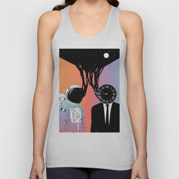 A Portrait of Space and Time ( A Study of Existence) Unisex Tank Top