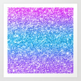 Colorful glam glitter and sparkles Art Print
