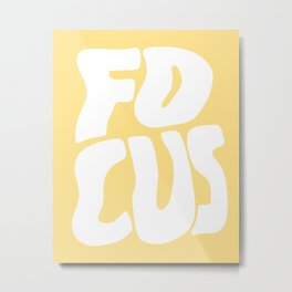 Focus Wave Metal Print