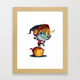 Dark Cat Monster Framed Art Print