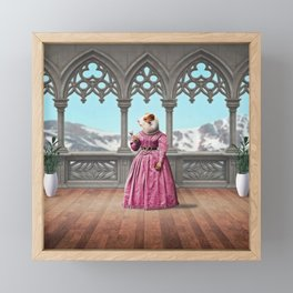 Henrietta Hamster at the Mountain Retreat Framed Mini Art Print