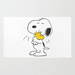hug Peanuts Snoopy Rug