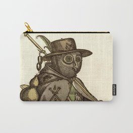 Owl dressed as a pilgrim 1550 Carry-All Pouch