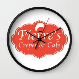 Pierre's Crepes & Cafe Wall Clock