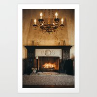 Cozy Fireplace Art Print