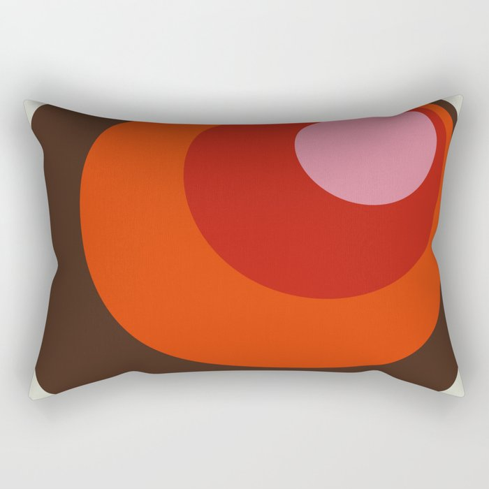 Gleti - Classic Colorful Abstract Minimal Retro 70s Style Dots Design Rectangular Pillow