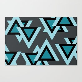 Triangels turquoise pattern geometric Canvas Print
