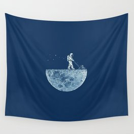 Space walk Wall Tapestry