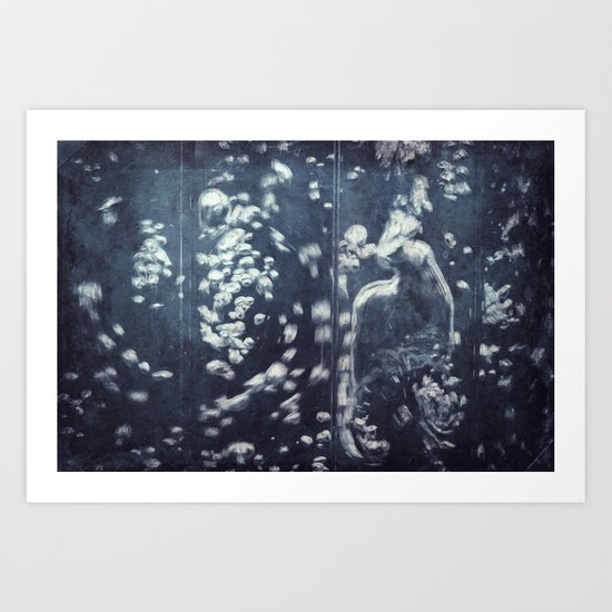 swirling water bubbles Art Print