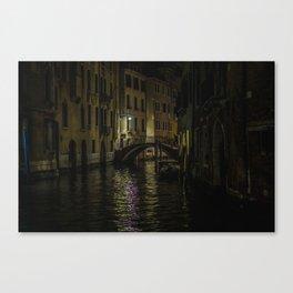 Night Walks: Venice Canvas Print