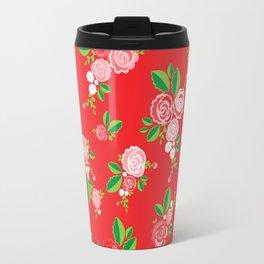 Red Summer Rose Travel Mug