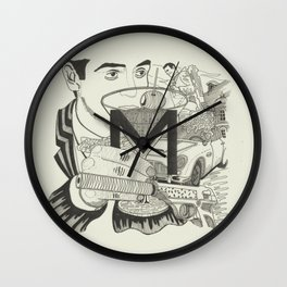 M is for Martini Wall Clock